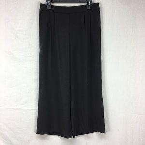 J. Crew Black Wide Leg Crop Pants